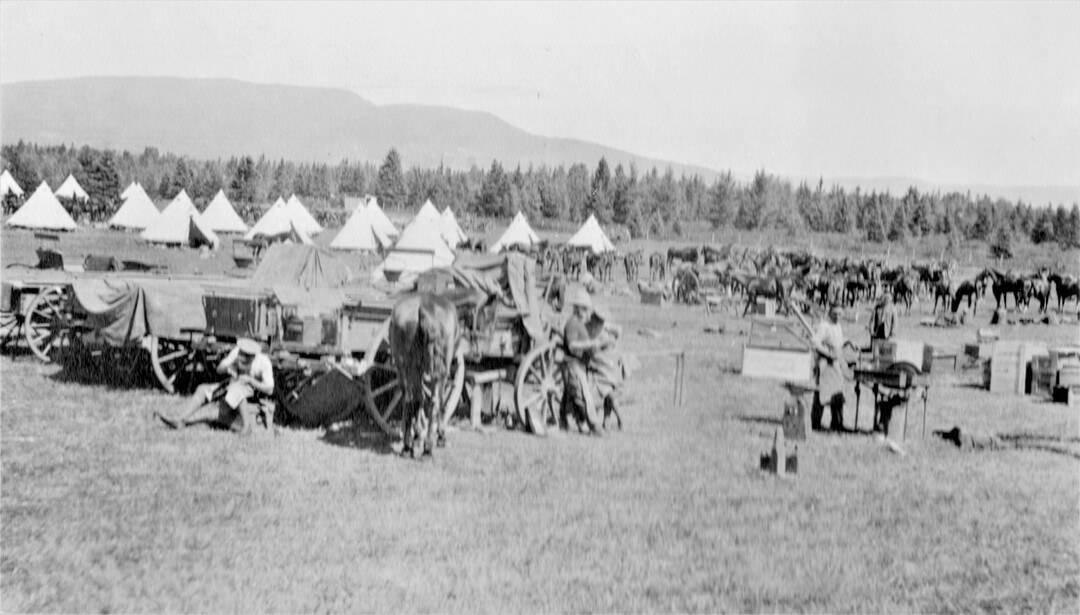 3.-1914-August-Camp-Valcartier-A-Battery