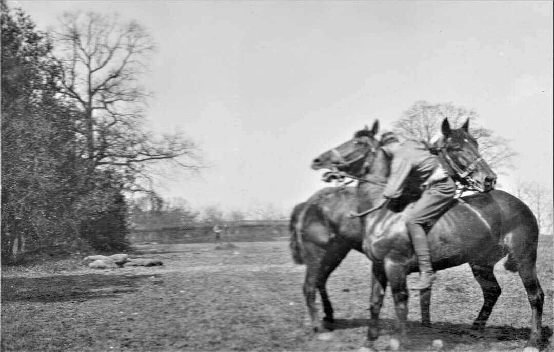6.-1915-April-Wrestling-on-Horseback