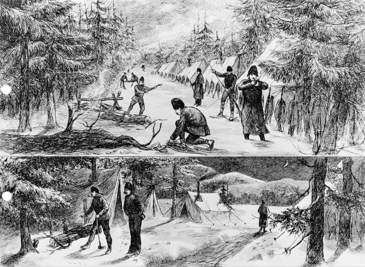 1878-B-Battery-Winter-Encampment-Quebec