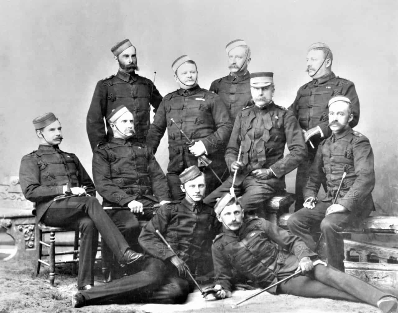 1886-Officers-of-B-Battery-1886